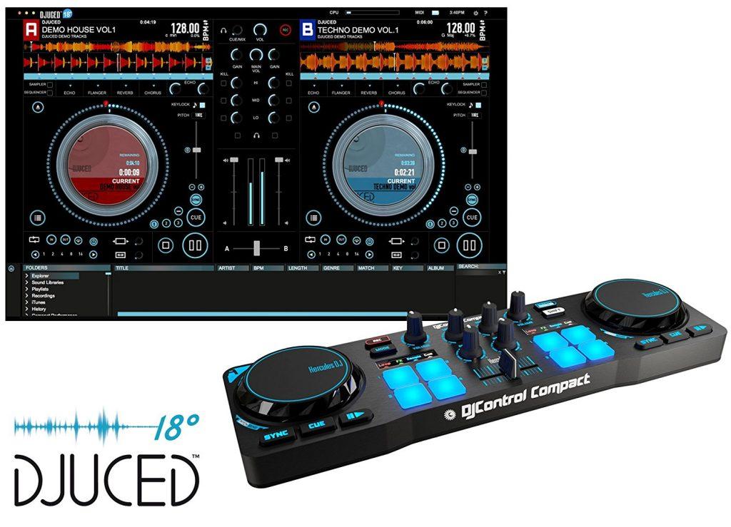 Mini controller DJ -Hercules DJ Control Compact - DJuiced